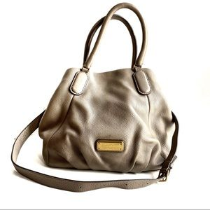 Marc by Marc Jacobs Gray Hobo Leather Crossbody